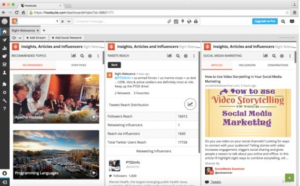 ES: El marketing de Influencia en las redes sociales con el tablero de Hootsuite