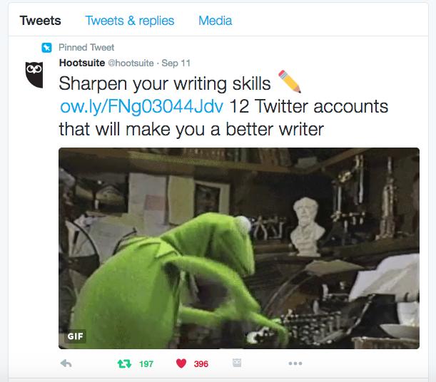 Pinned Tweet