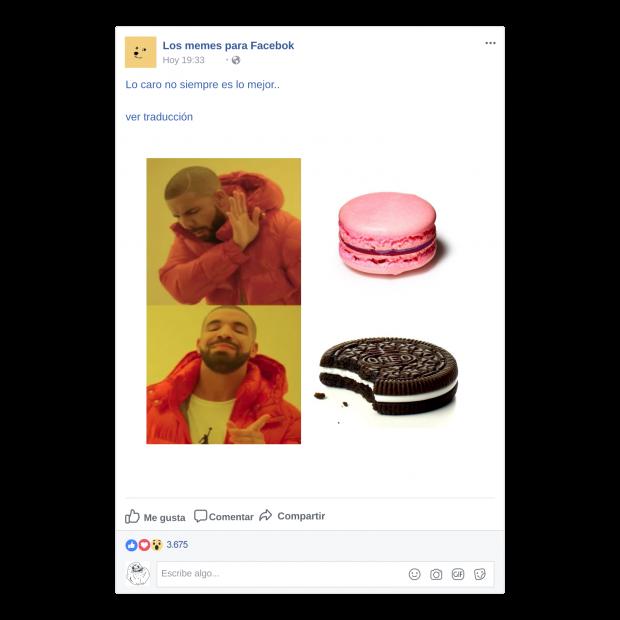 Comparativos de Drake en memes para Facebook
