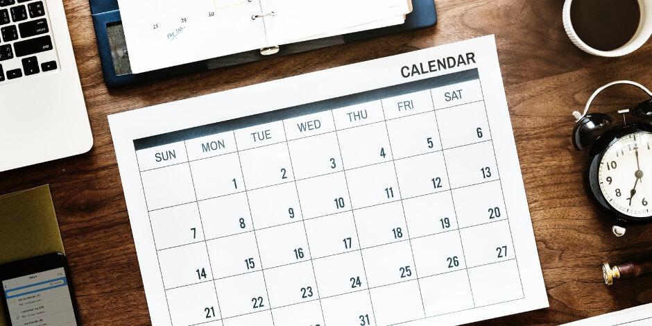 social media content calendar