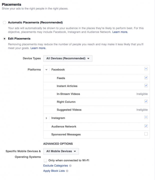 Utiliza diferentes plataformas para optimizar tus anuncios de Facebook