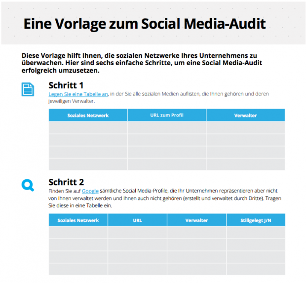 Social Media Marketing-Plan Audit