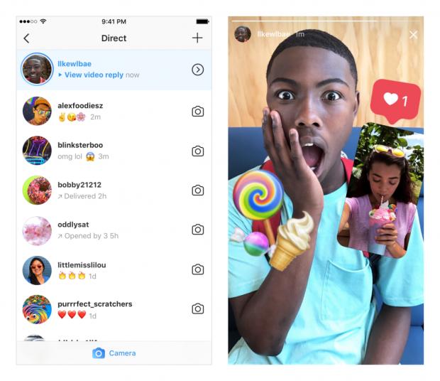 commentare le instagram stories con foto e video