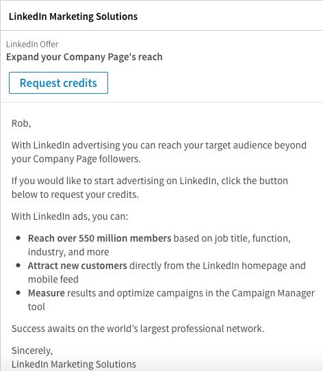 LinkedIn-Ads sponsored InMail