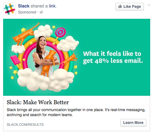 Perfect ad for Facebook
