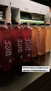 Instagram Story of kombucha bottles at live event | Hootsuite Blog