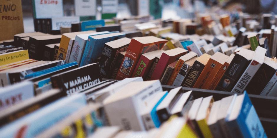 books in a cart