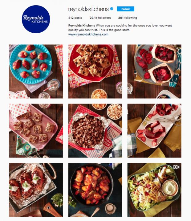 Instagram Awards Reynolds Kitchen grid