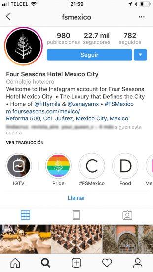 Perfiles de Instagram para empresas
