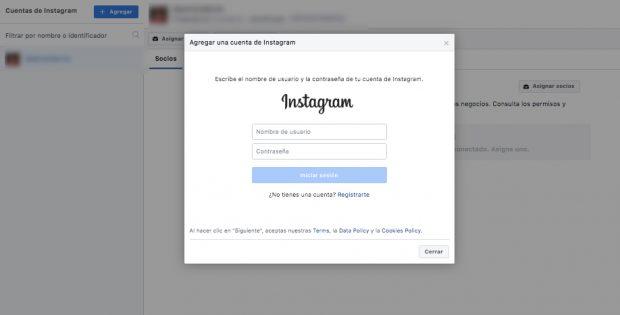 publicidad en Instagram - Cómo agregar una cuenta de Instagram