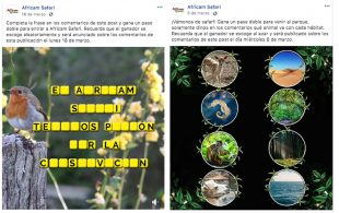 El concurso de Africam Safari en las redes sociales