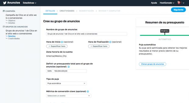Elige el presupuesto de tu campaña de twitter para tu publicidad en Twitter