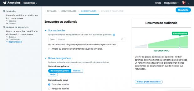 Publicidad en Twitter - Elige la audiencia de tus anuncios en Twitter