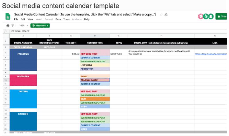 scaling content using content calendar