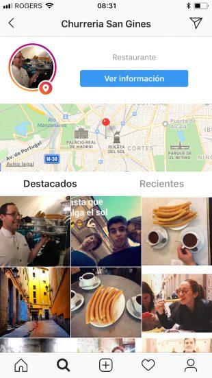 Etiqueta tu ubicación en Instagram