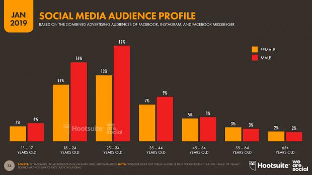 perfil de los usuarios de redes sociales