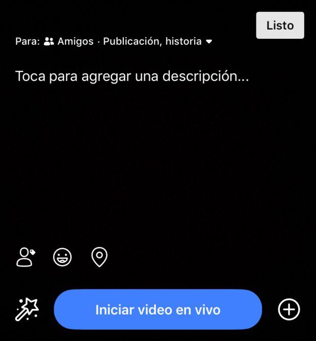 Facebook Live - Guía en Español (Ajustes de Facebook live Agregar una descripción)