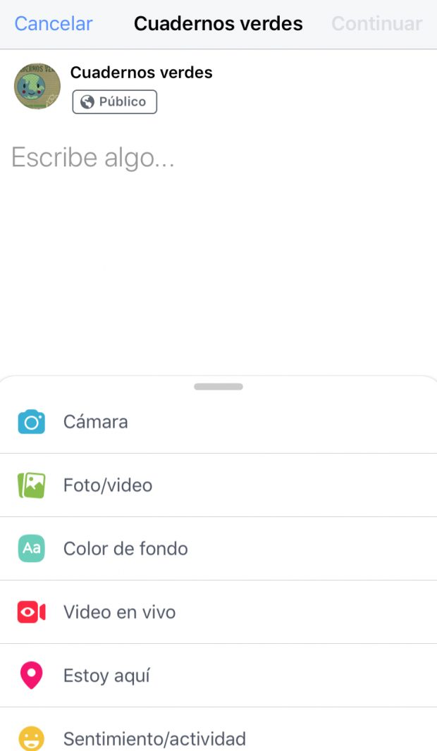 Facebook Live - Guía en Español (Escribe algo)