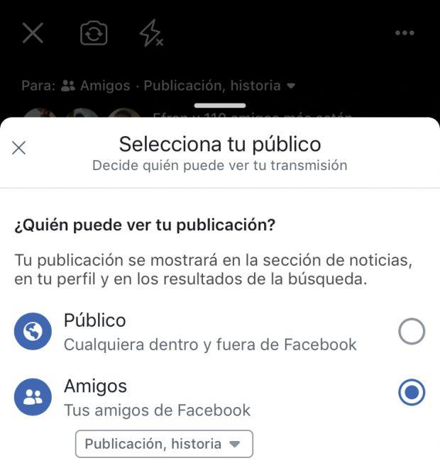 Facebook Live - Guía en Español (Ajustes de Facebook live selecciona tu público)