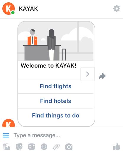 KAYAK Messenger App