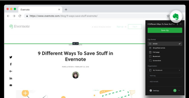 chrome extensions Evernote Web Cutter