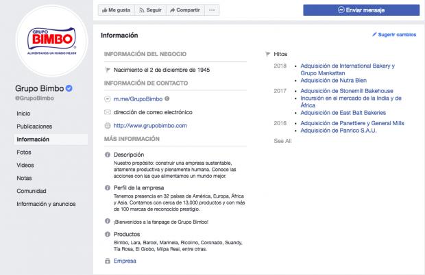 Grupo Bimbo nos muestra cómo conseguir más likes en Facebook