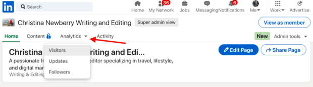 Accessing LinkedIn Analytics