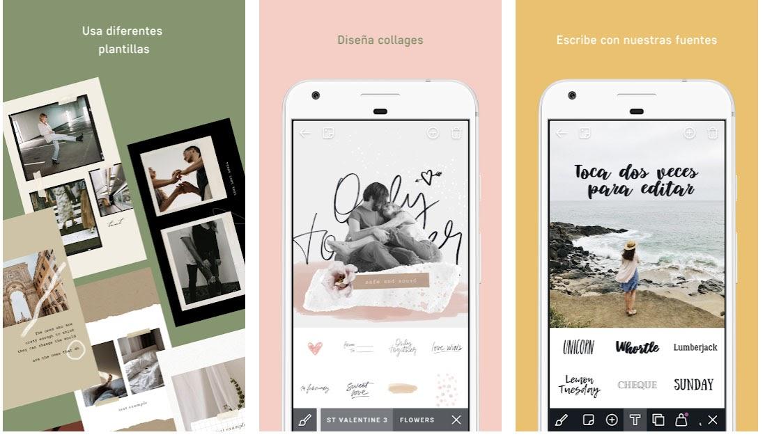 Aplicación de tipografía AppForType para Instagram