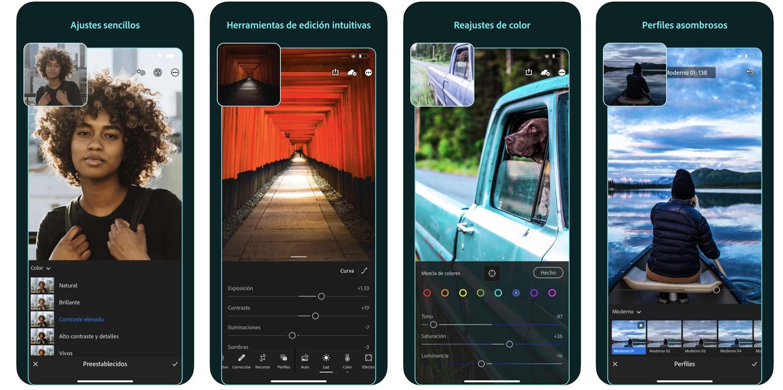 Aplicaciones de Instagram: Adobe Lightroom Photo Editor