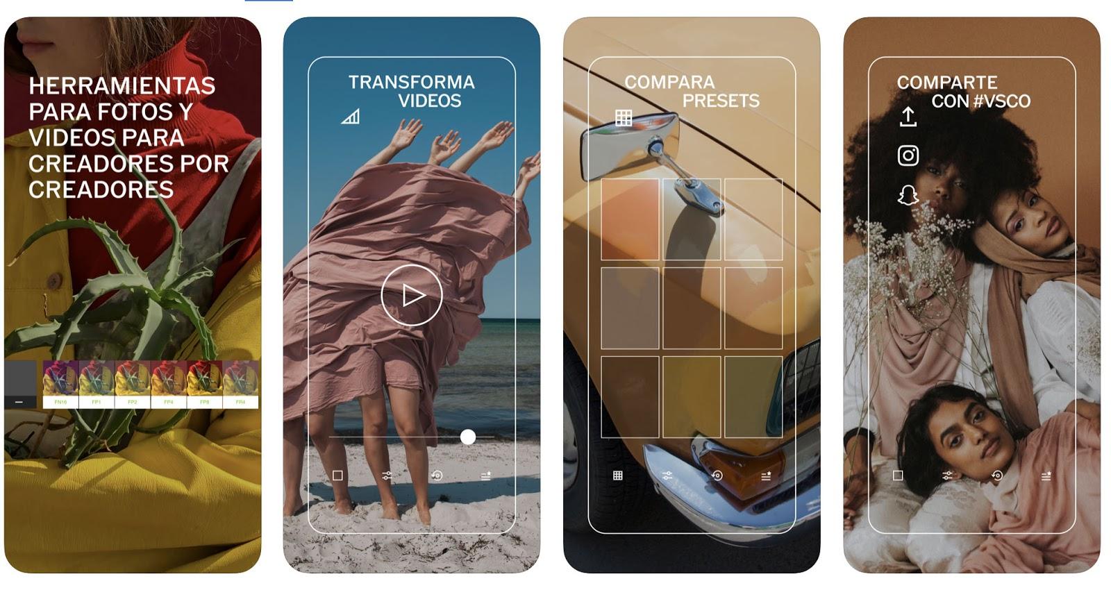 Aplicaciones de Instagram: app de edición de fotos y videos VSCO