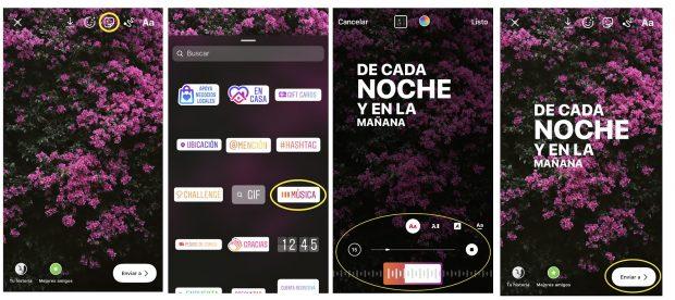 Cómo agregar música a una Historia de Instagram en cuatro capturas de pantalla que explican el proceso paso a paso