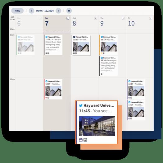 Hootsuite's social media planner dashboard