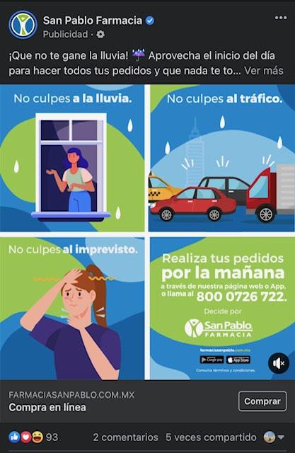San Pablo anuncio video con animación