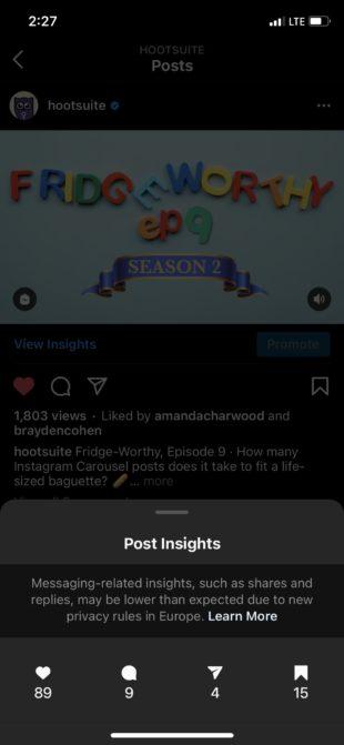 IGTV Insights in Instagram