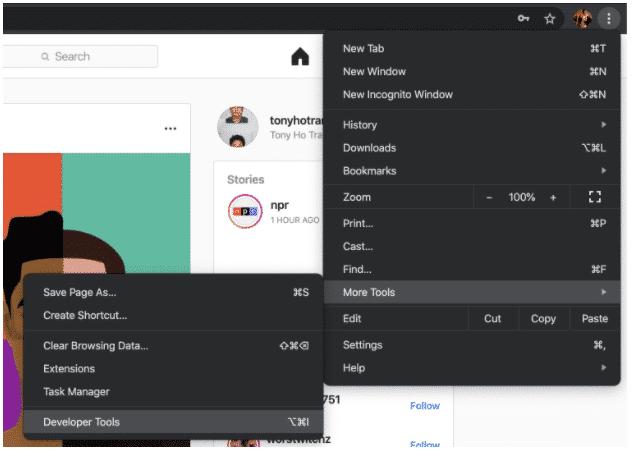 So posten Sie auf Instagram vom PC aus Schritt 2: Browsereinstellungen