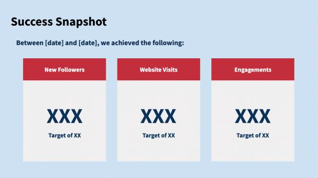 social media report template preview