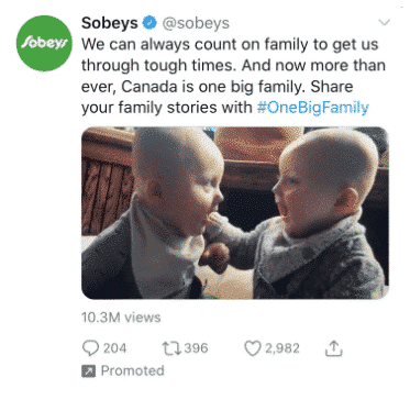 Der Screenshot zeigt einen gesponserten Twitter-Post von SobeyÆs