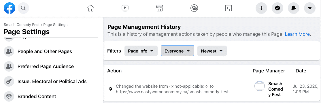 Facebook updates the function