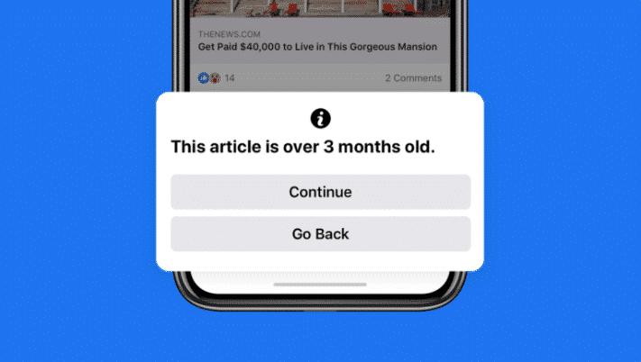 Facebook updates three month old item warning