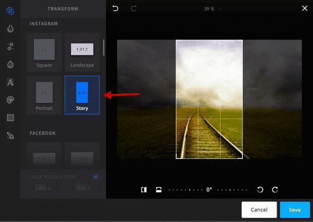 Créer une story Instagram avec Hootsuite