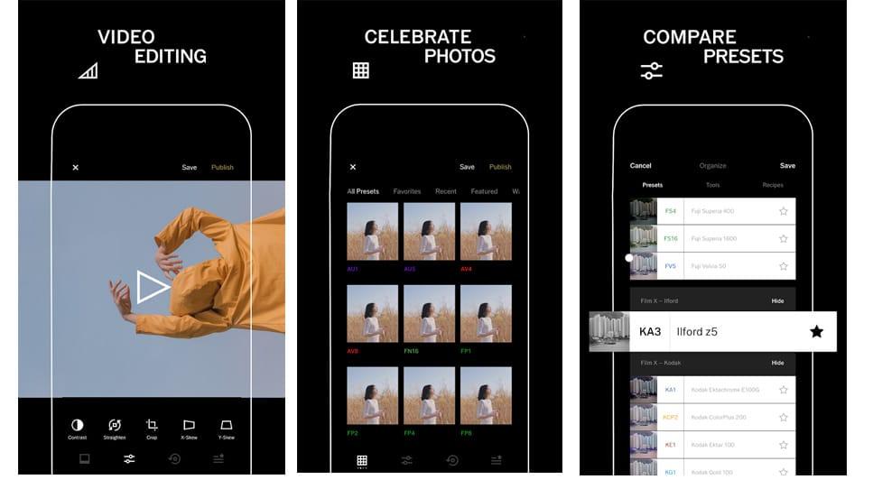 application vsco pour stories Instagram