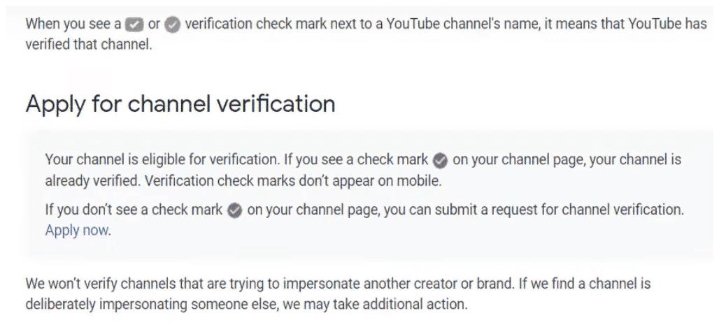Youtube verification application