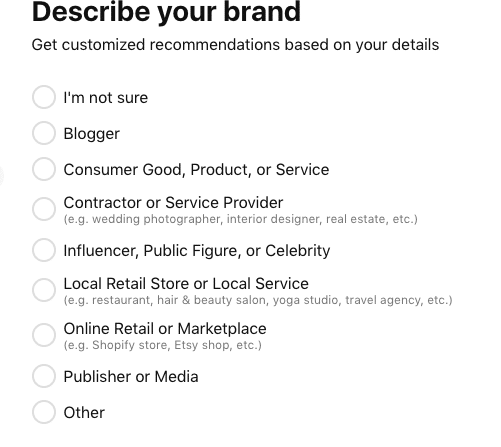 The Pinterest review describes your brand