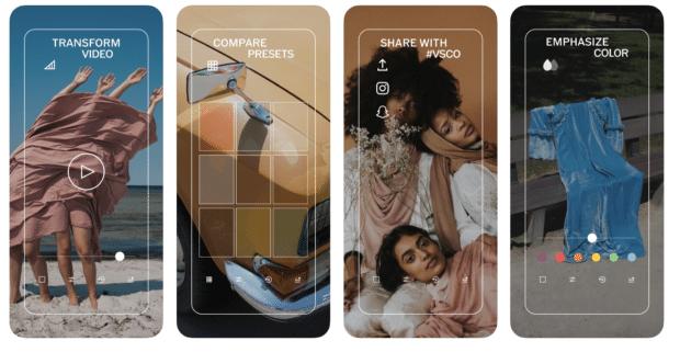 VSCO - Application Instagram pour l'édition de photos