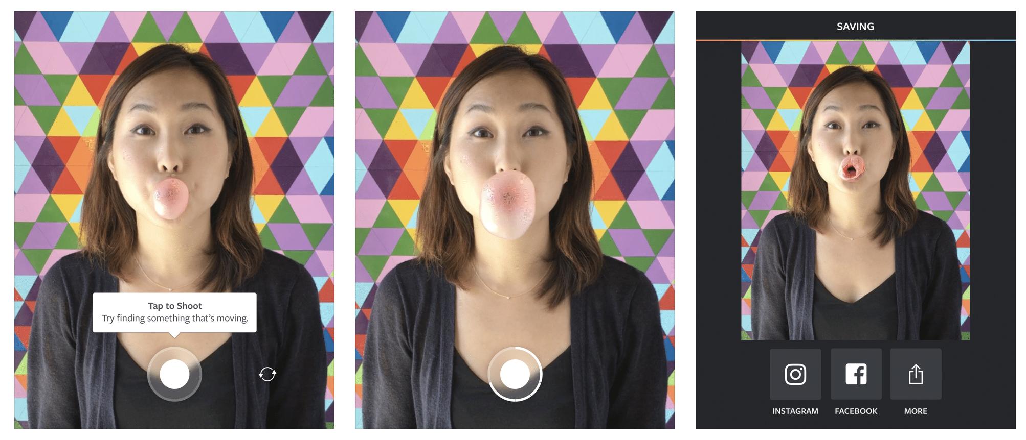 Aplicaciones de Instagram: Boomerang