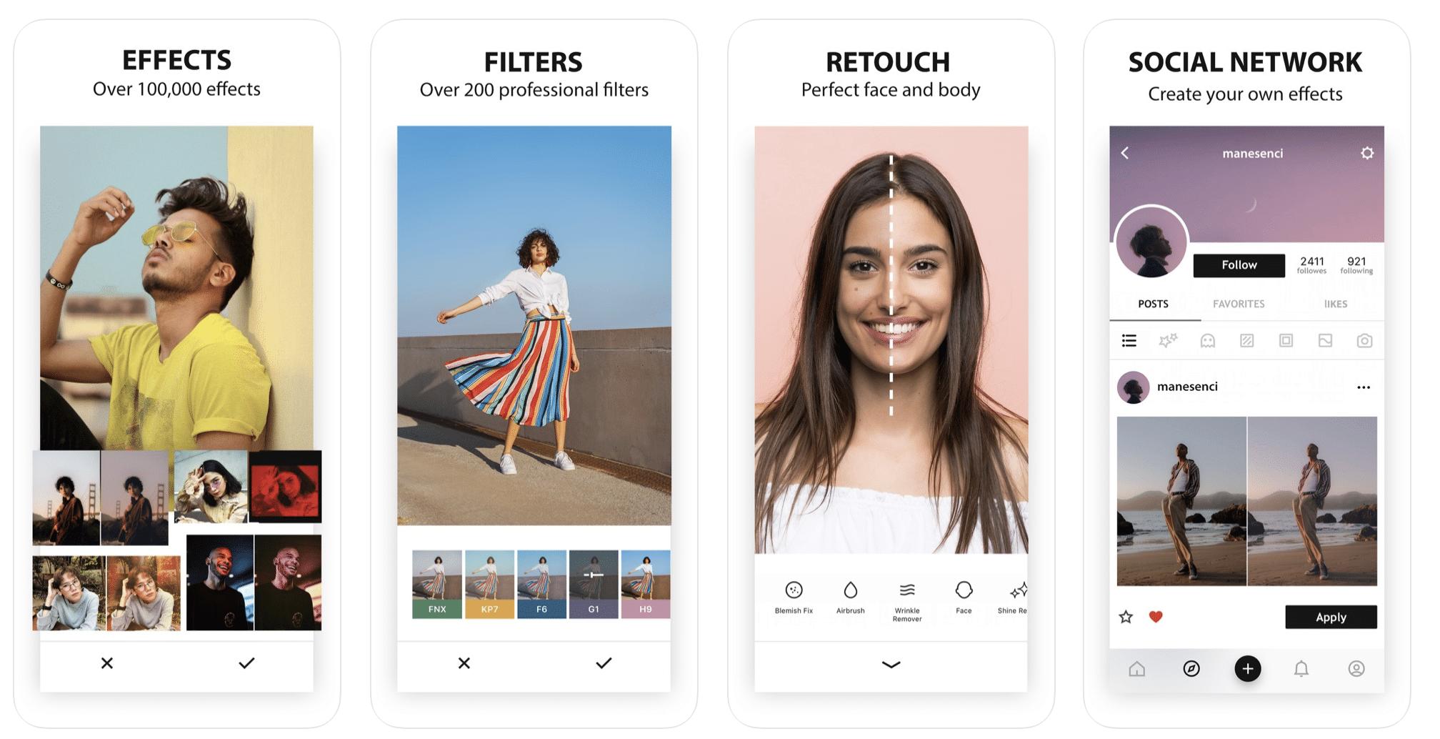 Aplicaciones de Instagram: Editor de fotografías Avatan
