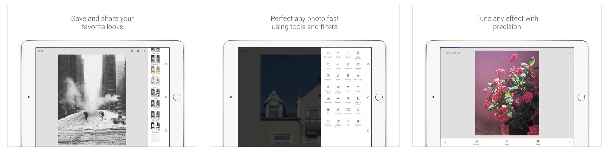 Snapseed, app de edición de fotos de archivos JPG y RAW
