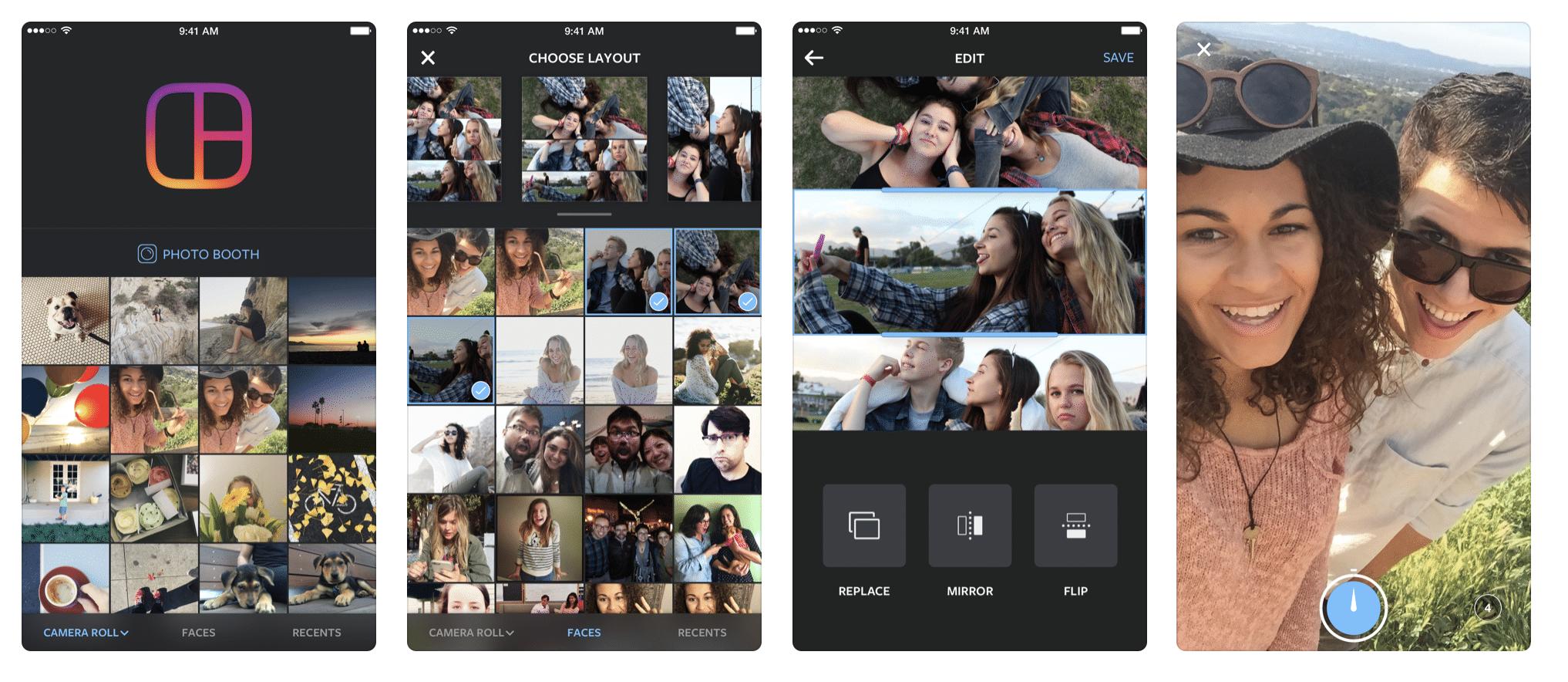 Layout, aplicacione de Instagram para editar fotografías