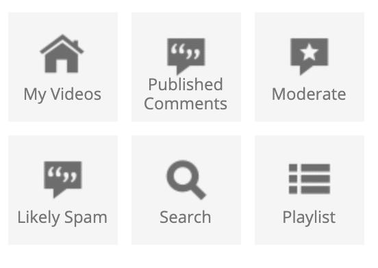 Hootsuite dashboard my videos stream