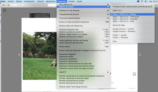 Configuración del navegador